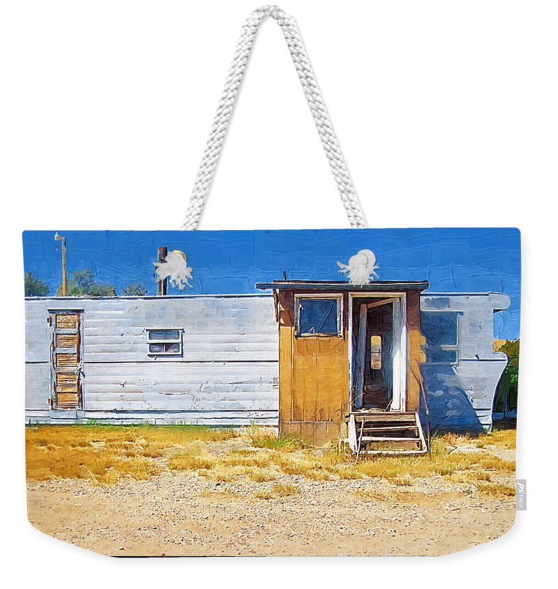 Window Weekender Tote Bag featuring the photograph Classic Trailer by Susan Kinney