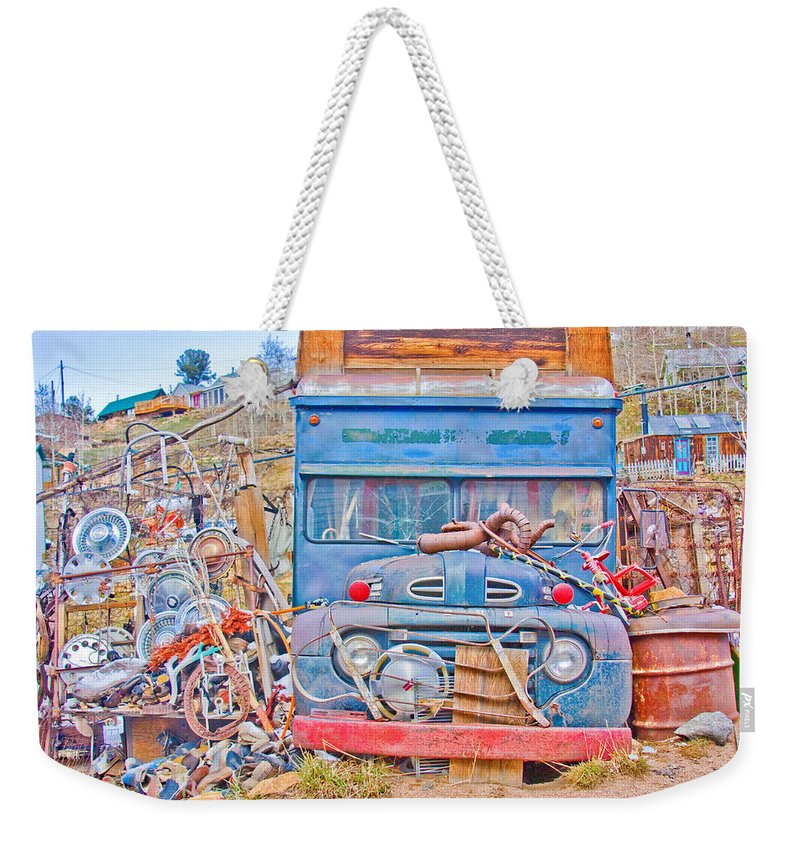 Classic Weekender Tote Bag featuring the photograph Classic Ward Colorado Boulder County by James BO Insogna