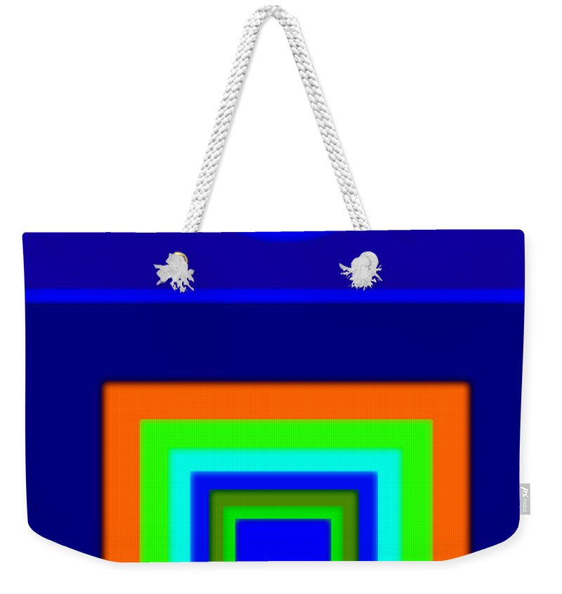 Classical Weekender Tote Bag featuring the painting Classical Blue by Charles Stuart
