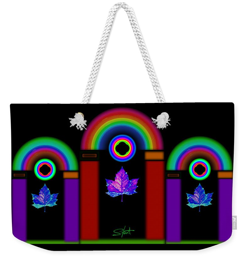 Classical Weekender Tote Bag featuring the painting Classical Neon by Charles Stuart