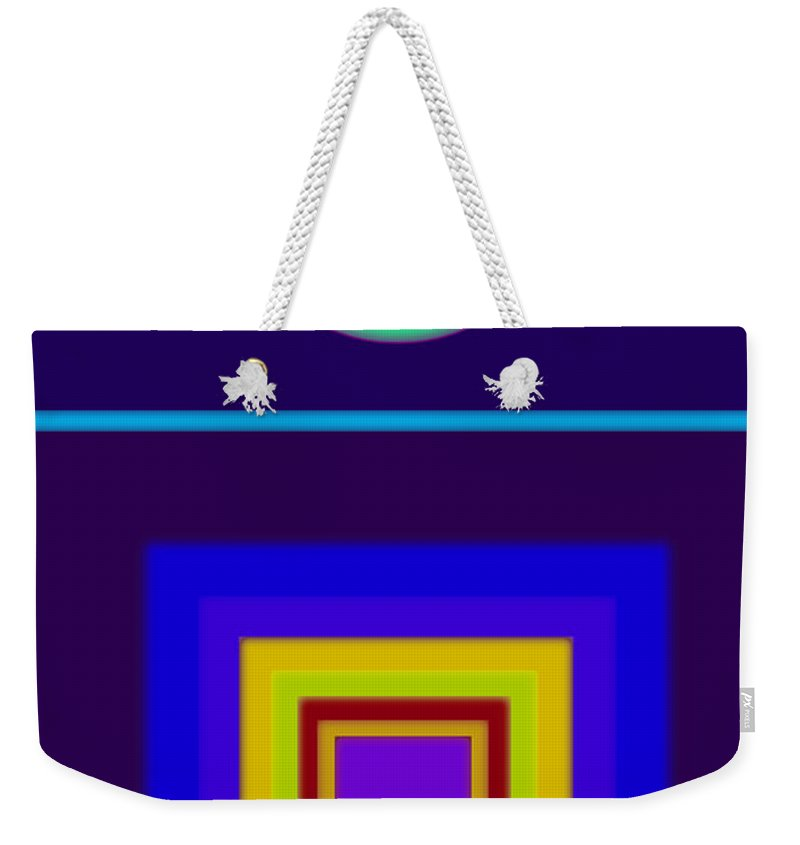 Classical Weekender Tote Bag featuring the painting Classical Night by Charles Stuart