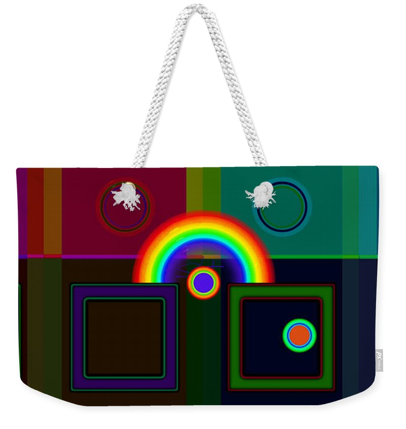 Classical Weekender Tote Bag featuring the digital art Classical Rainbow by Charles Stuart