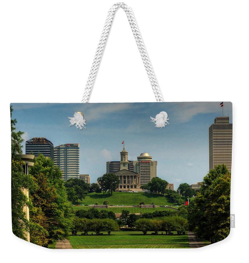Nashville Weekender Tote Bag featuring the photograph Classical Structures? by Darin Williams