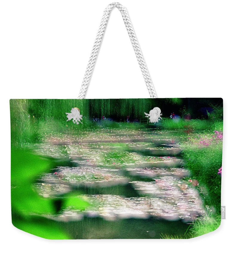Nature Weekender Tote Bag featuring the photograph Claude Monets Water Garden Giverny 1 by Dubi Roman