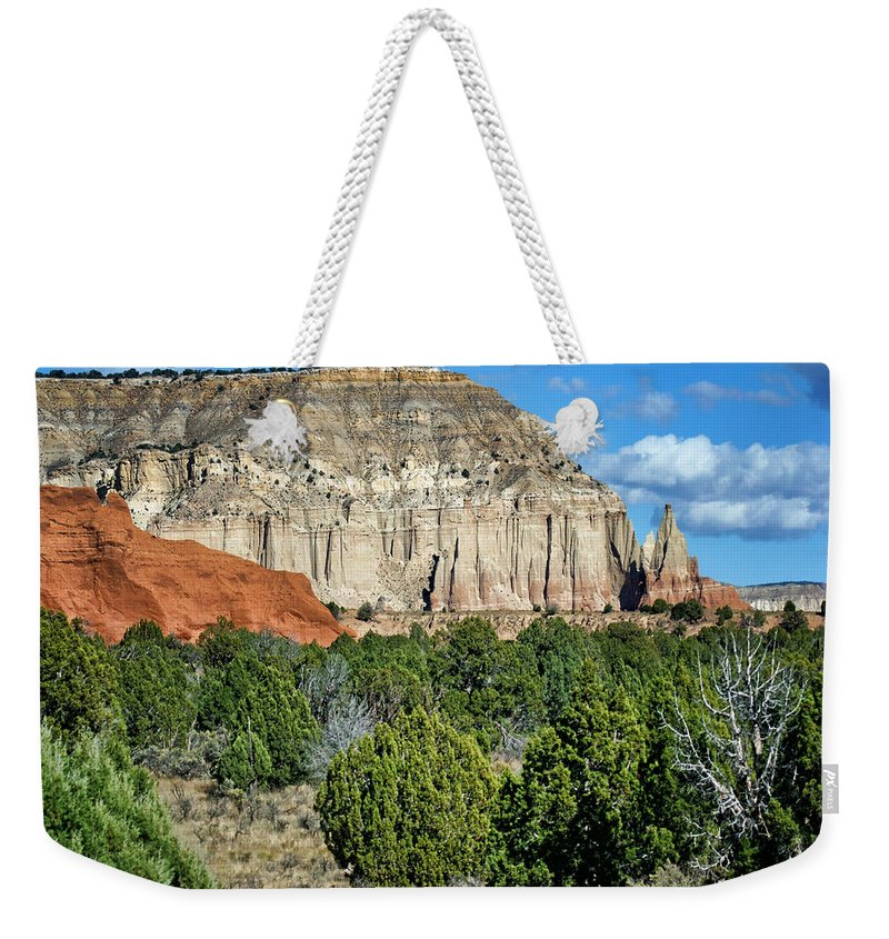 Kodachrome State Park Weekender Tote Bag featuring the photograph Claystone - Sandstone - Kodachrome Basin by Nikolyn McDonald