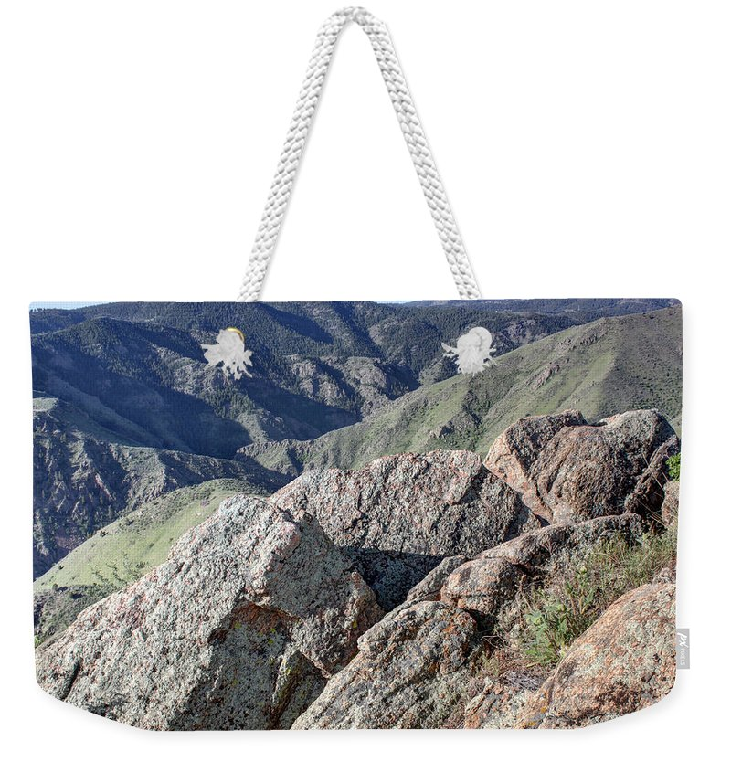 Clear Creek Canyon Weekender Tote Bag featuring the photograph Clear Creek Canyon by Andrew Terrill