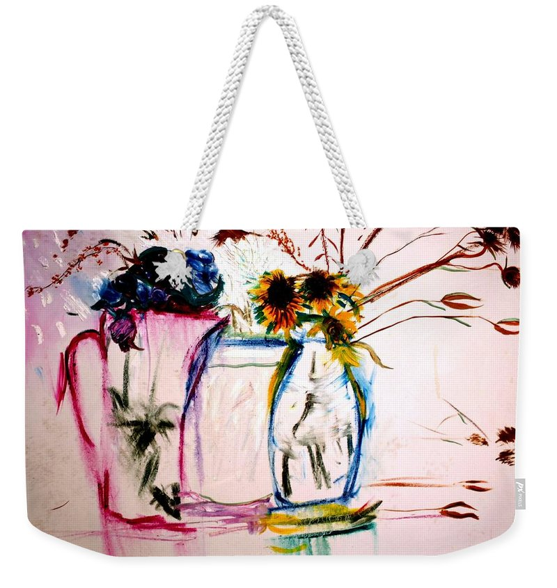 Still Life Weekender Tote Bag featuring the painting Clear by Jack Diamond