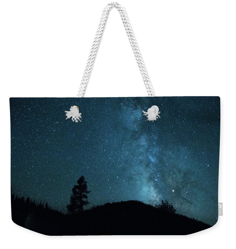Colorado Milky Way Weekender Tote Bag featuring the photograph Clear Night Skies by Kunal Mehra