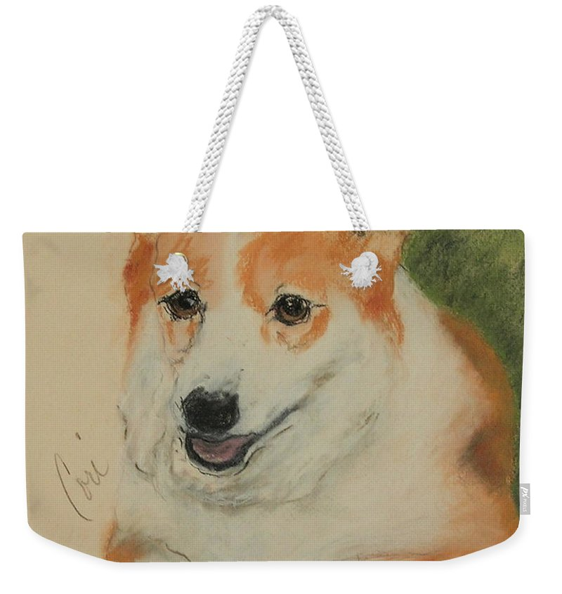 Pastel Weekender Tote Bag featuring the drawing Clear Run by Cori Solomon