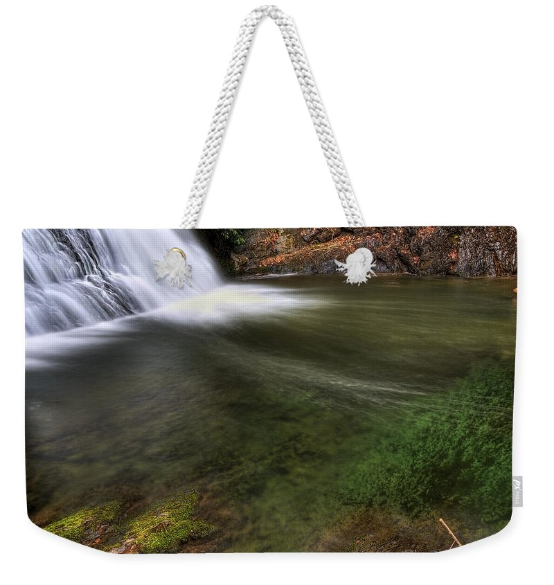 America; Aqua Weekender Tote Bag featuring the photograph Clear Waters by Svetlana Sewell