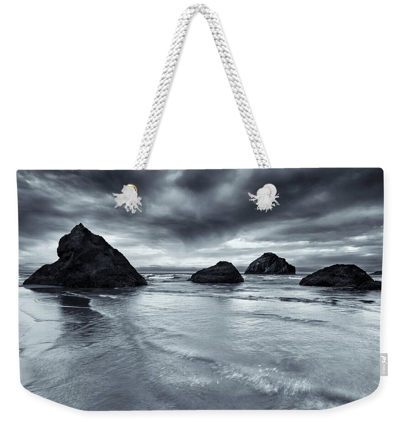 Beach Weekender Tote Bag featuring the photograph Clearing Storm by Mike Dawson