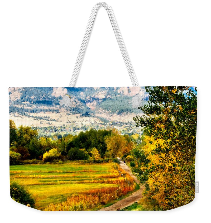 Americana Weekender Tote Bag featuring the photograph Clearly Colorado by Marilyn Hunt