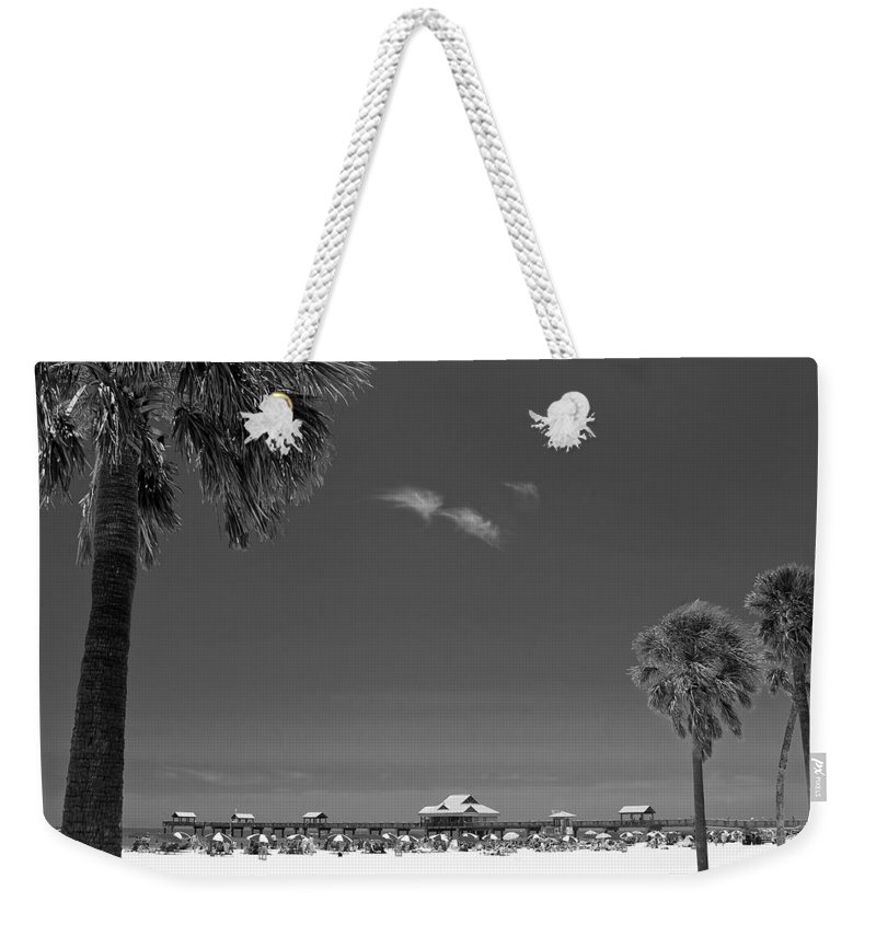 3scape Weekender Tote Bag featuring the photograph Clearwater Beach Bw by Adam Romanowicz