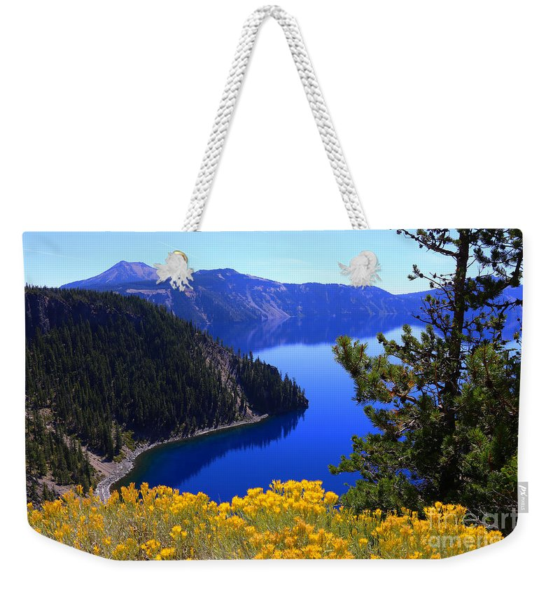 Crater Lake National Park Weekender Tote Bag featuring the photograph Cleetwood Cove At Crater Lake by Marty Fancy