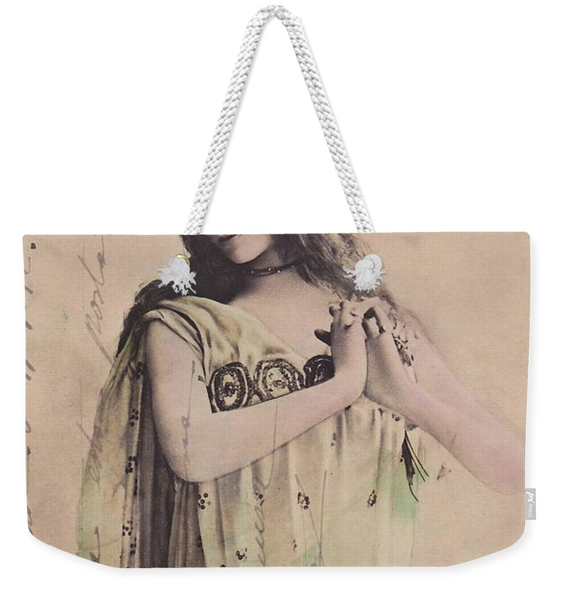 Cleo Weekender Tote Bag featuring the photograph Cleo De Merode by Reutlingers
