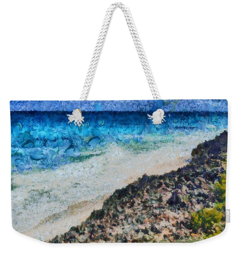 Sea Weekender Tote Bag featuring the photograph Cliff And Water by Ashish Agarwal