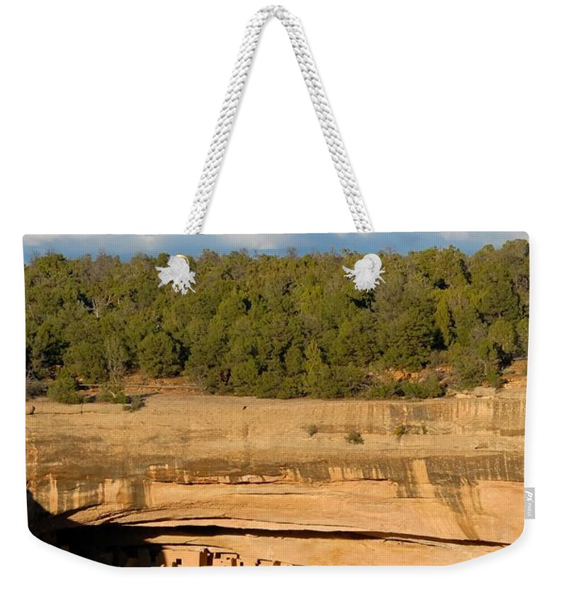 Cliff Palace Weekender Tote Bag featuring the photograph Cliff Palace Landscape by David Lee Thompson