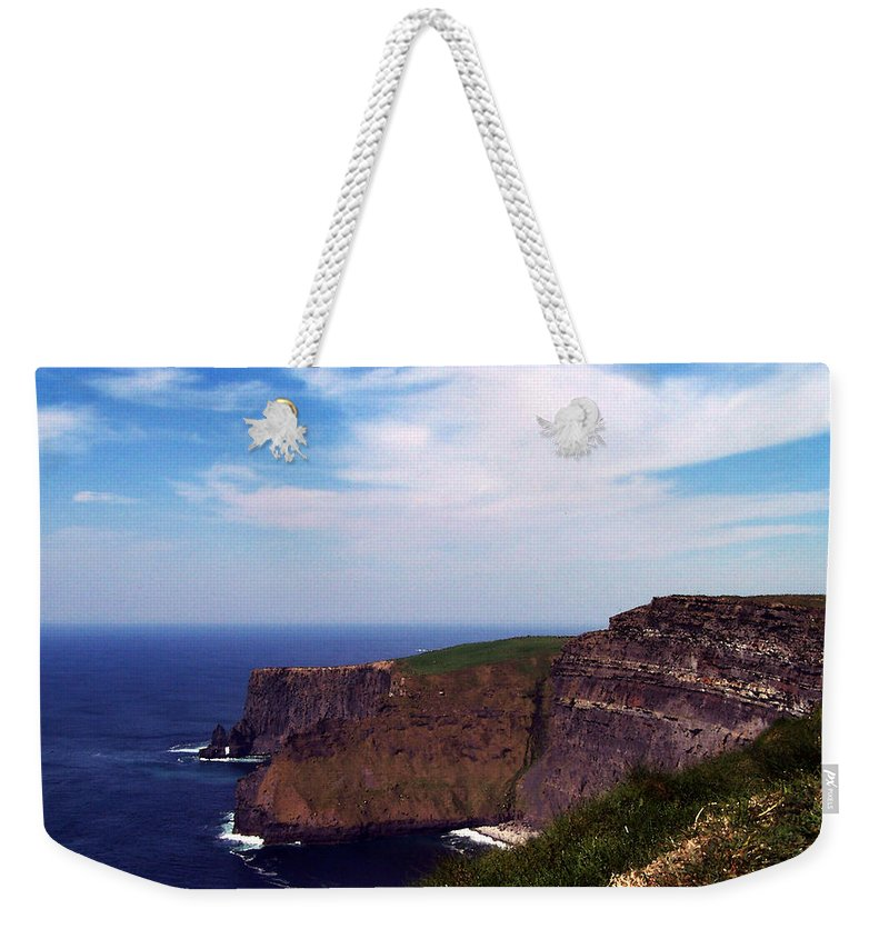 Irish Weekender Tote Bag featuring the photograph Cliffs of Moher Aill Na Searrach Ireland by Teresa Mucha