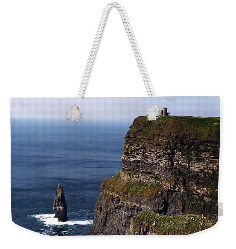 Irish Weekender Tote Bag featuring the photograph Cliffs Of Moher County Clare Ireland by Teresa Mucha