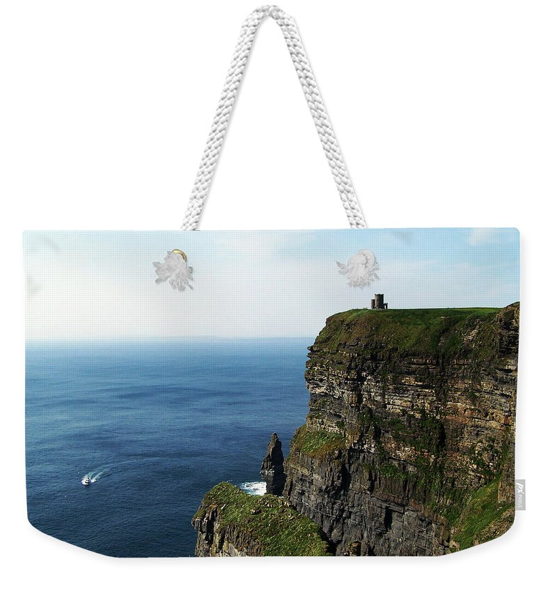 Irish Weekender Tote Bag featuring the photograph Cliffs Of Moher Ireland by Teresa Mucha