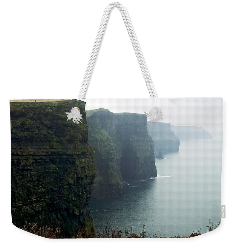 Lawrence Boothby Weekender Tote Bag featuring the photograph Cliffs Of Moher by Lawrence Boothby