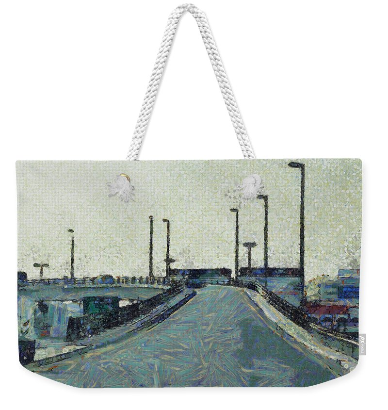 Ramp Weekender Tote Bag featuring the photograph Climbing A Ramp On The Highway by Ashish Agarwal