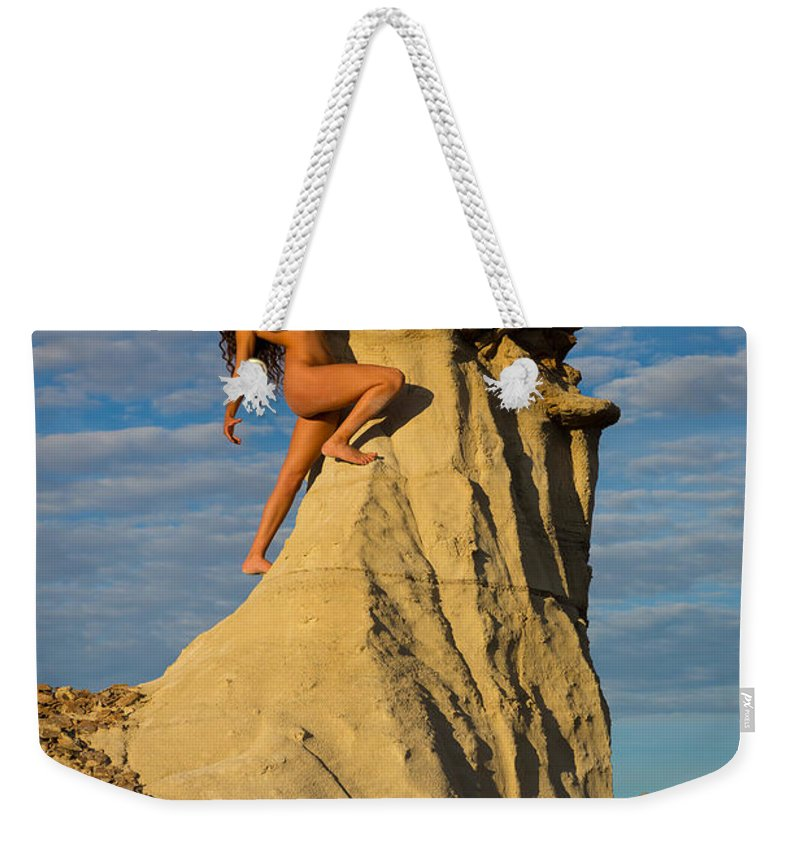 America Weekender Tote Bag featuring the photograph Climbing by Inge Johnsson