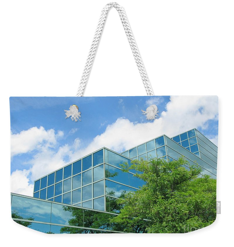 Architecture Weekender Tote Bag featuring the photograph Climbing Skyward by Ann Horn