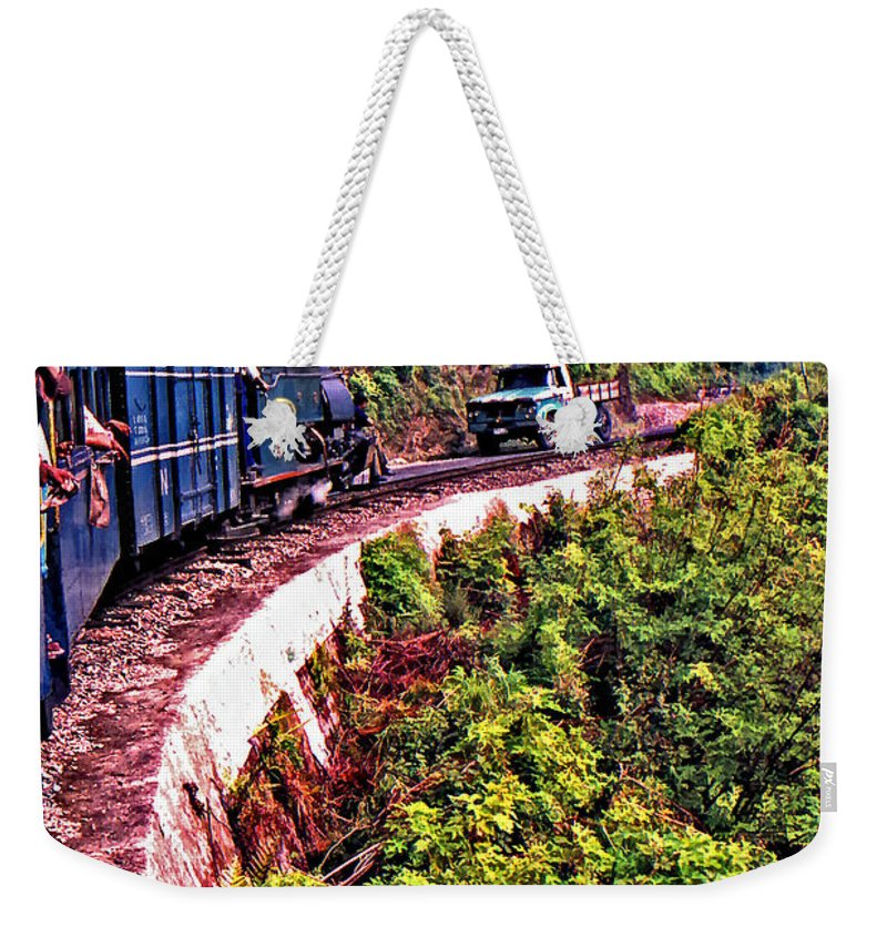 Toy Train Weekender Tote Bag featuring the photograph Climbing The Himalayas by Steve Harrington