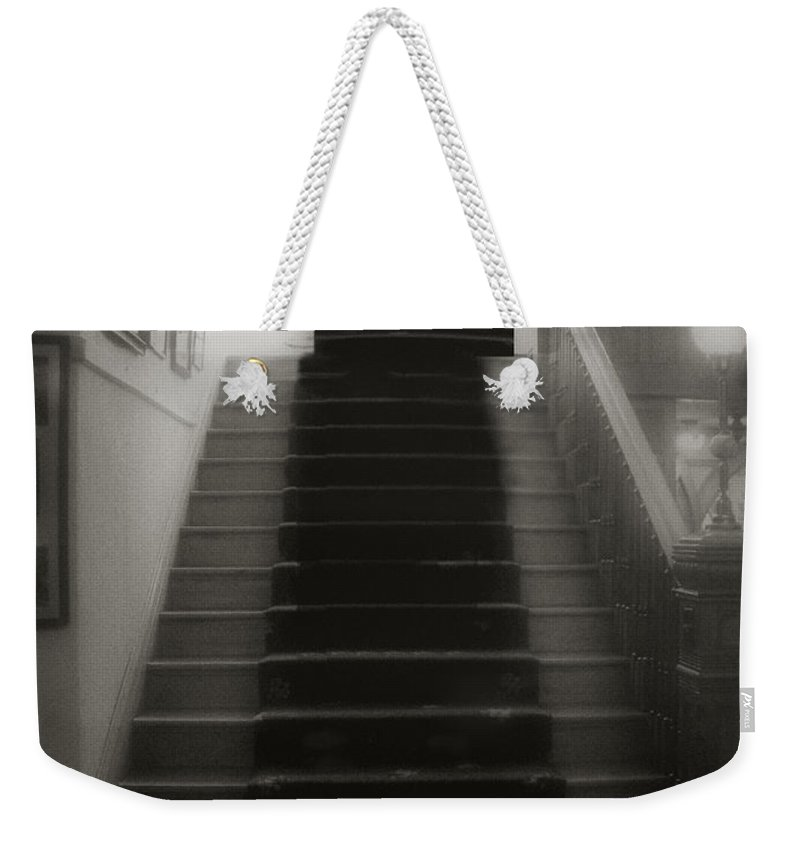 Black And White Weekender Tote Bag featuring the photograph Climbing Toward The Unknown by RC DeWinter