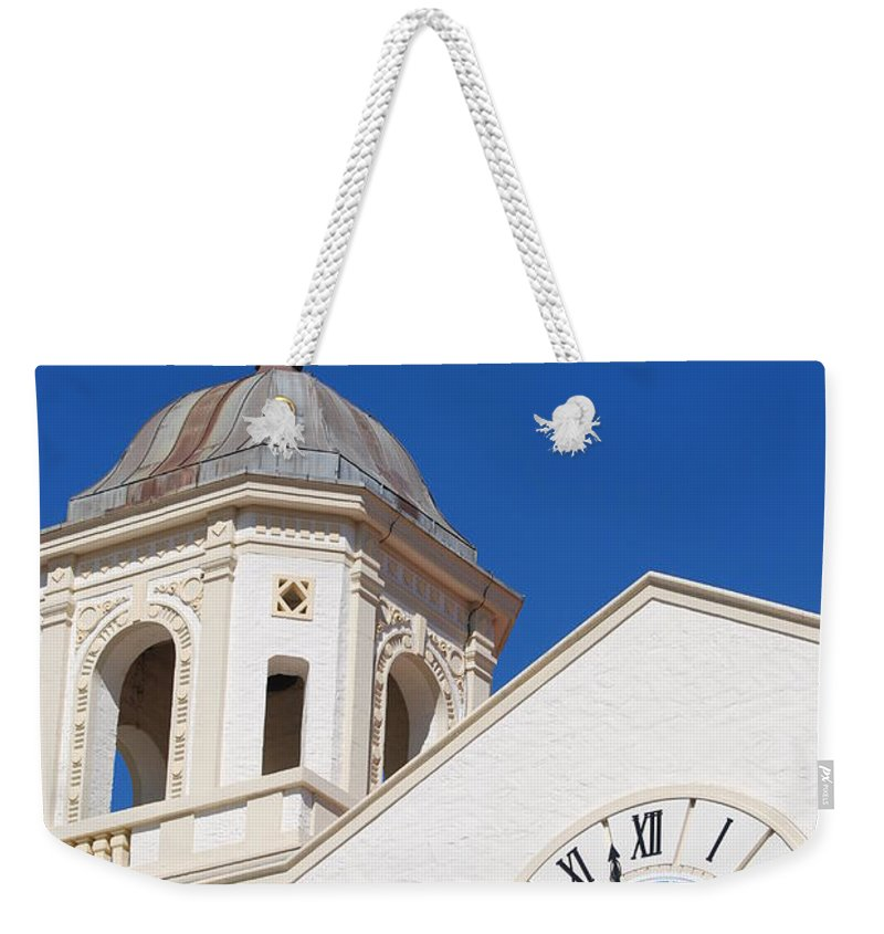 Clock Weekender Tote Bag featuring the photograph Clock And Tower by Rob Hans