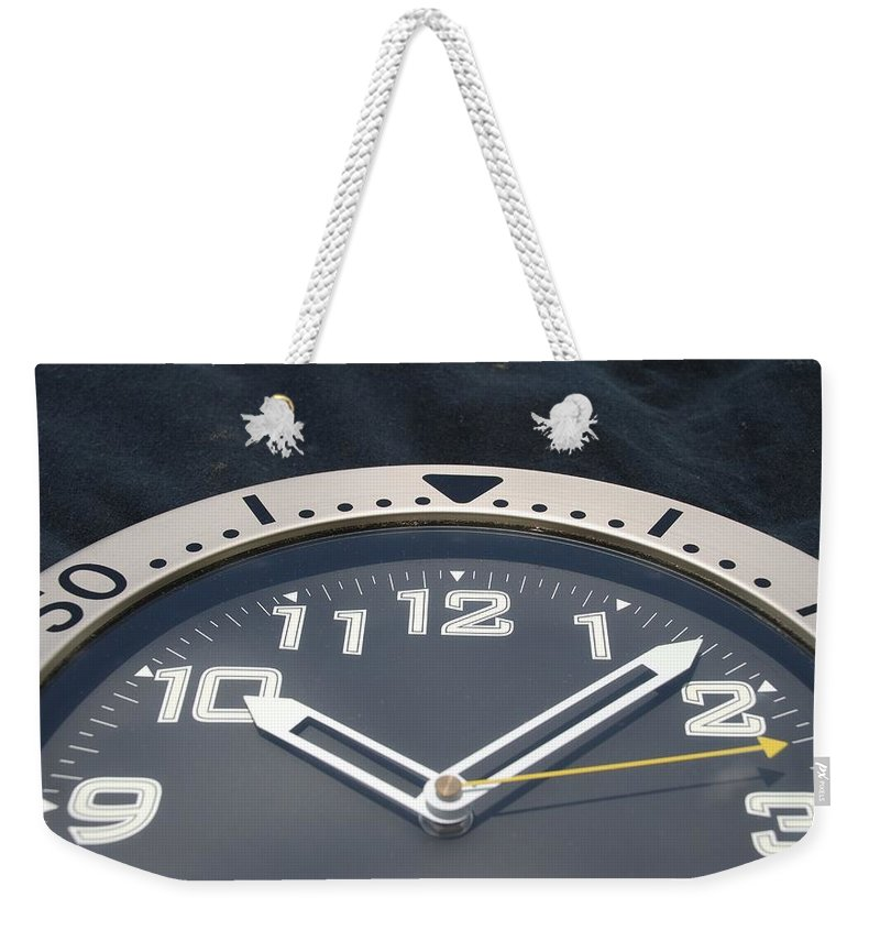 Clock Weekender Tote Bag featuring the photograph Clock Face by Rob Hans