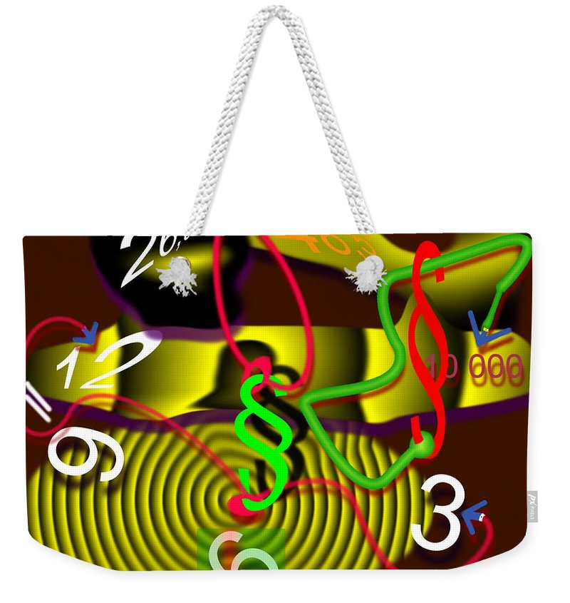 Clock Weekender Tote Bag featuring the digital art Clock Of Politics 2010 by Helmut Rottler