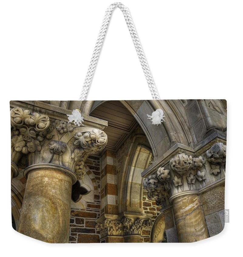 Church Weekender Tote Bag featuring the photograph Cloisters by Wayne Sherriff