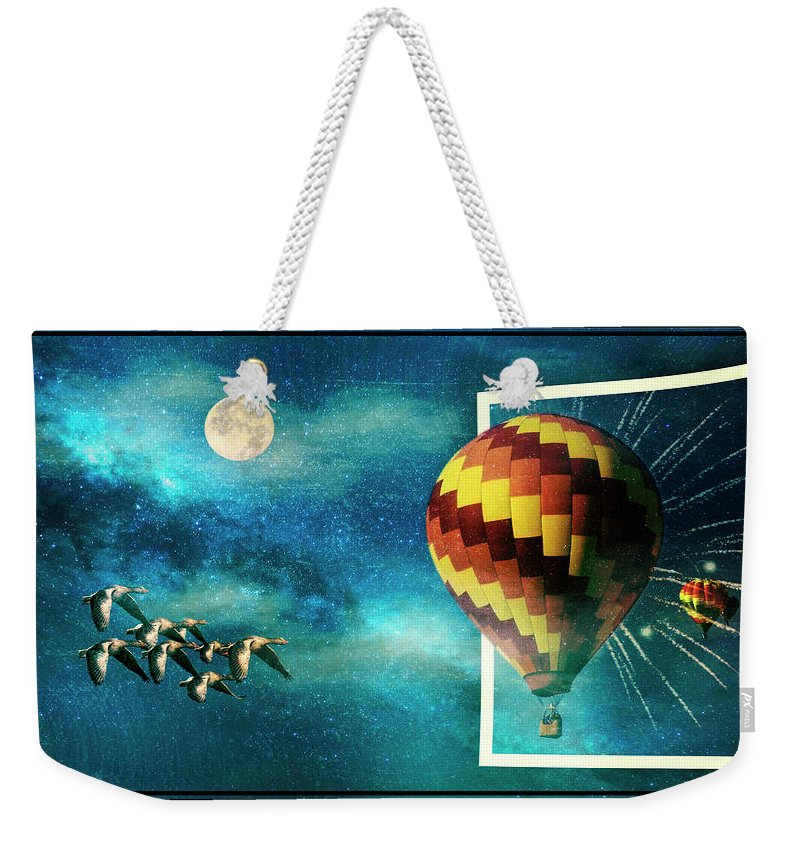 Close Encounters Weekender Tote Bag featuring the photograph Close Encounters Of An Unusual Kind by Diane Schuster