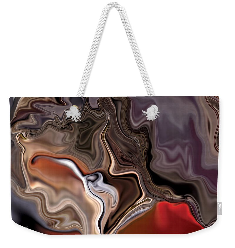 Abstract Weekender Tote Bag featuring the digital art Closer by Rabi Khan