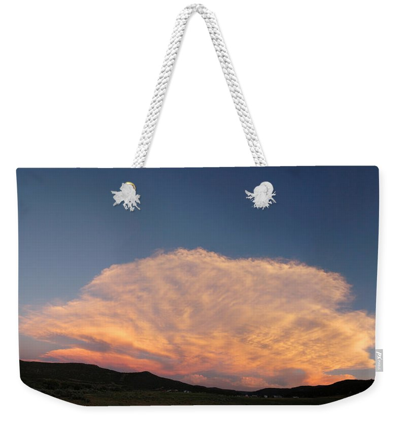 Cloud Weekender Tote Bag featuring the photograph Cloud Afar by Jerry McElroy