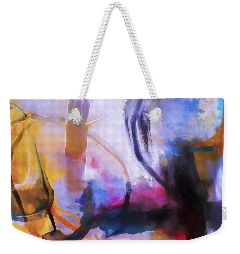 Cloud Atlas Weekender Tote Bag featuring the painting Cloud Atlas by Dominic Piperata