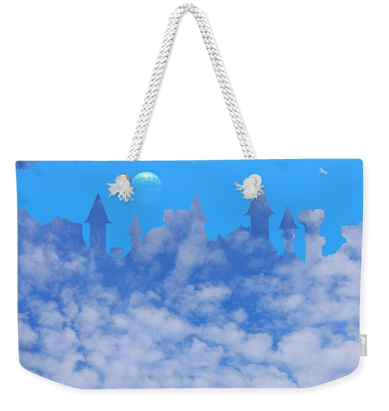 Castle Weekender Tote Bag featuring the photograph Cloud Castle by Mark Blauhoefer