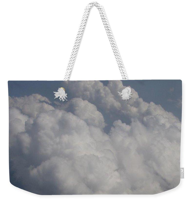 Clouds Weekender Tote Bag featuring the photograph Cloud Depth II by Deborah Crew-Johnson