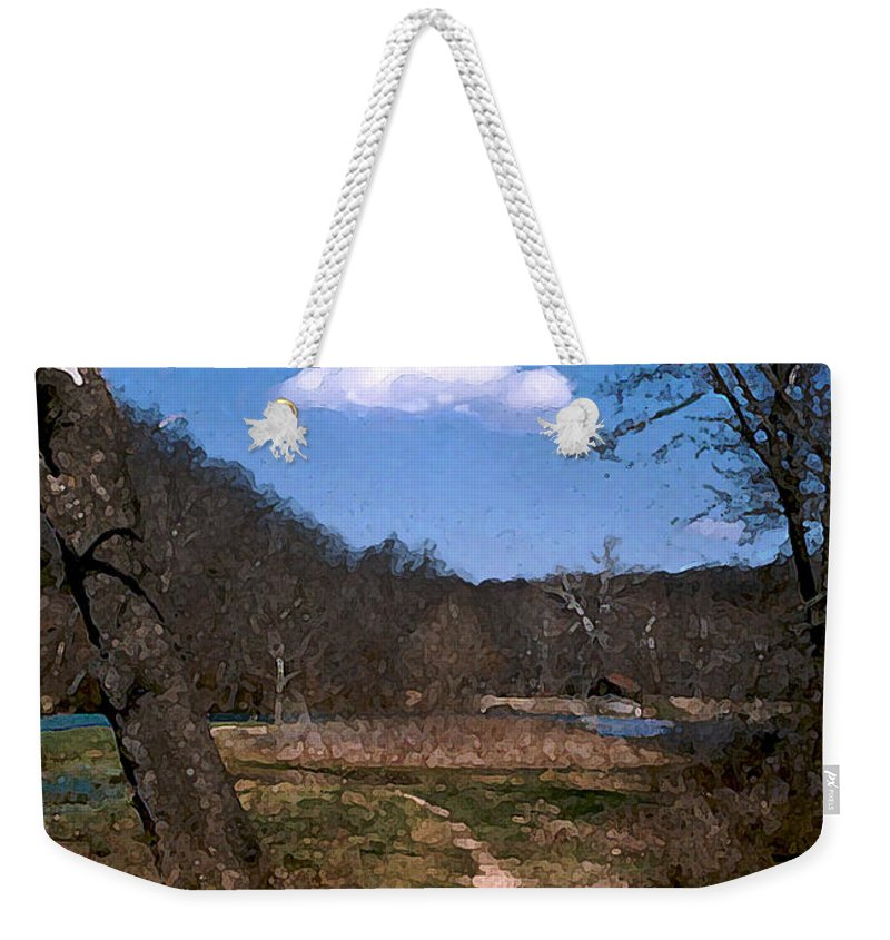 Landscape Weekender Tote Bag featuring the photograph Cloud Destination by Steve Karol