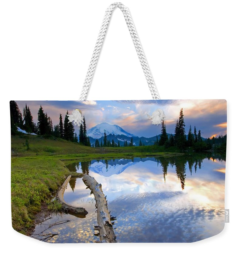 Landscape Weekender Tote Bag featuring the photograph Cloud Explosion by Mike Dawson
