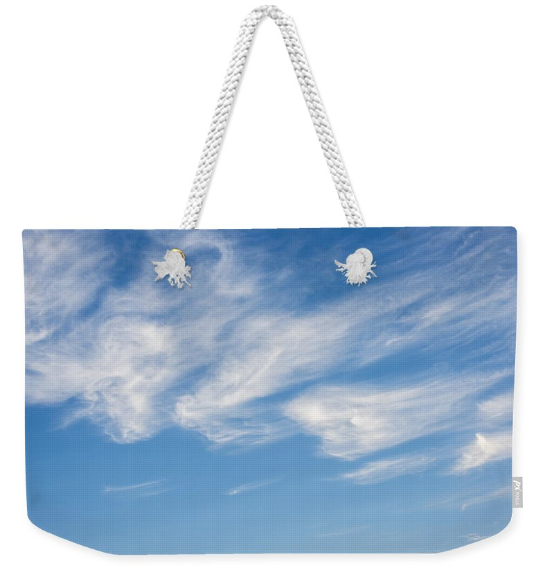 Abstractions Weekender Tote Bag featuring the photograph Cloud Faces by Robert Potts