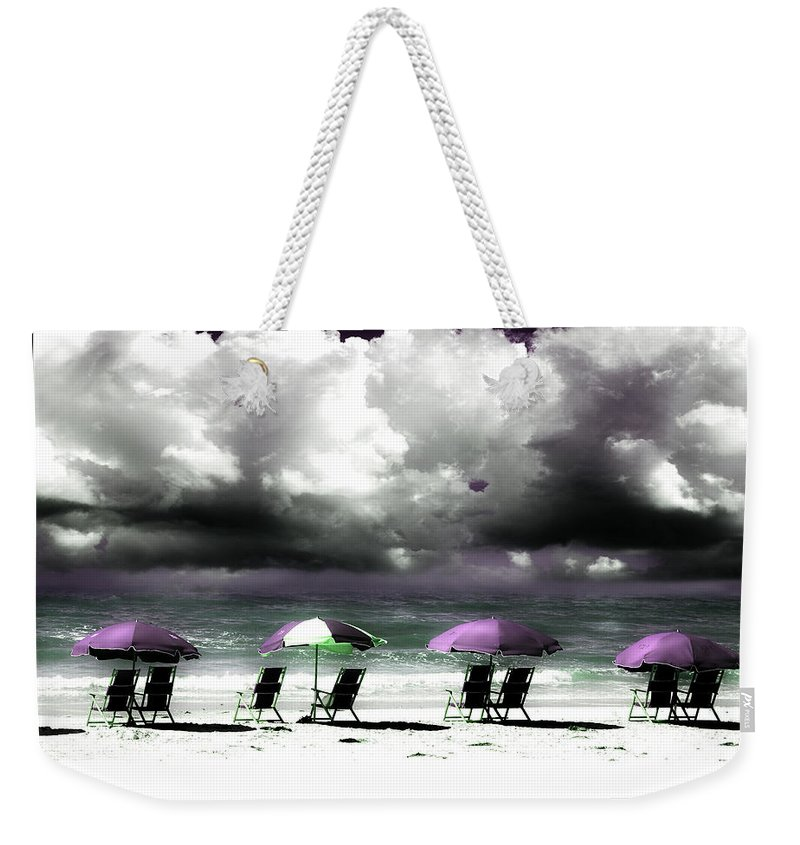 Beach Weekender Tote Bag featuring the photograph Cloud Illusions by Mal Bray
