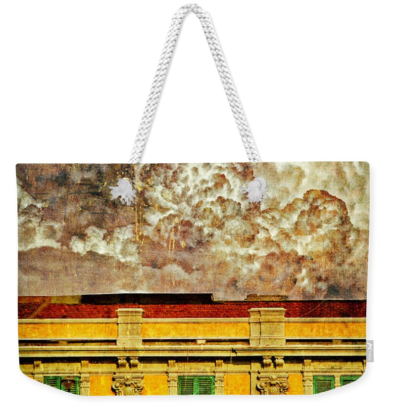 Building Weekender Tote Bag featuring the photograph Cloud Like Whipped Cream by Silvia Ganora