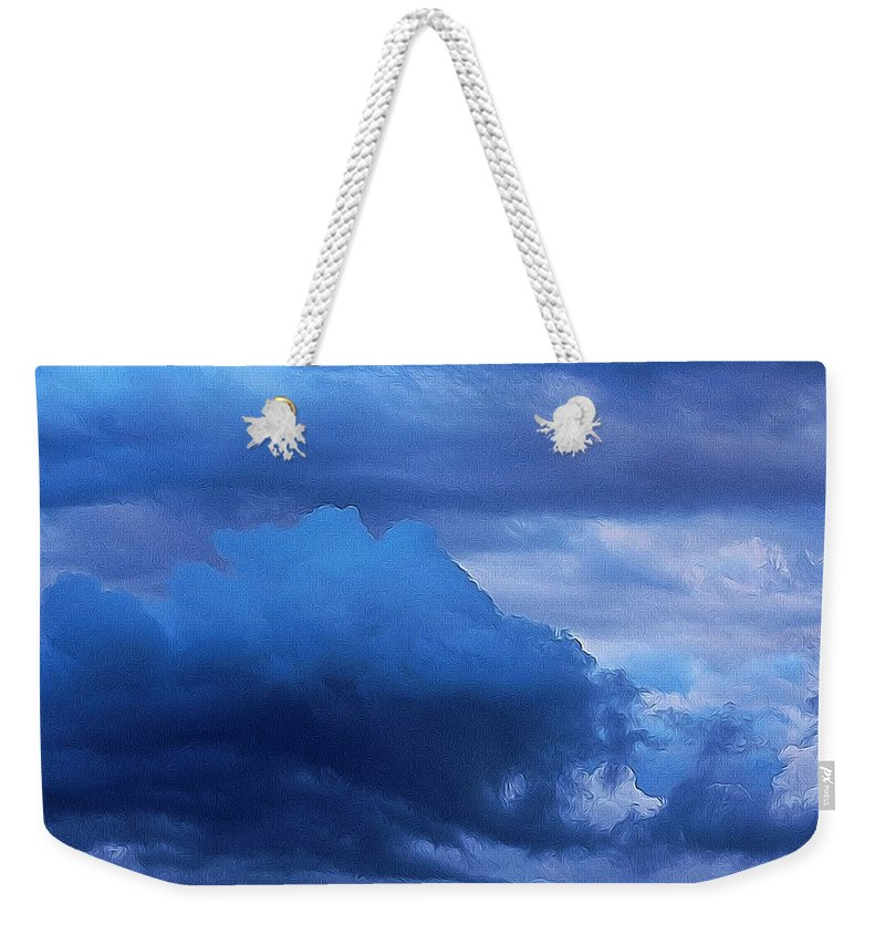 Cloud Weekender Tote Bag featuring the photograph Cloud One by Modern Art