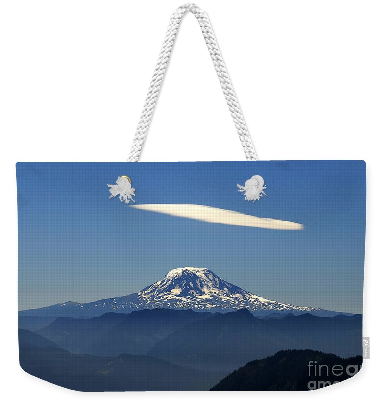 Mount Adams Weekender Tote Bag featuring the photograph Cloud Over Adams by David Lee Thompson