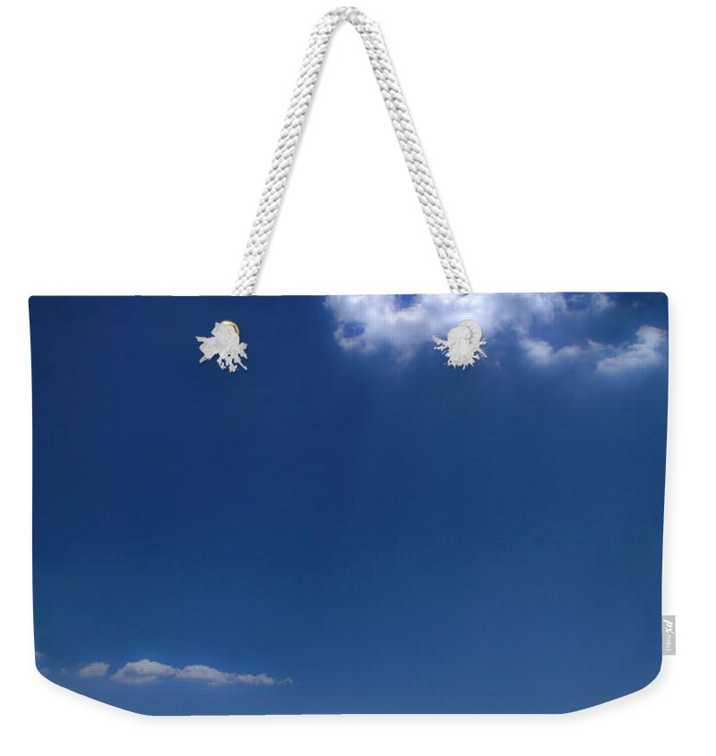 Pier Weekender Tote Bag featuring the photograph Cloud Over The Pier by Silvia Ganora