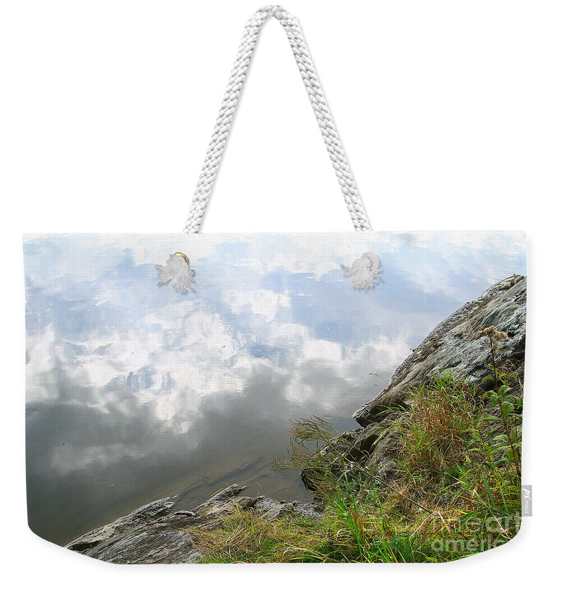 Clouds Weekender Tote Bag featuring the photograph Cloud Reflections by Deborah Benoit