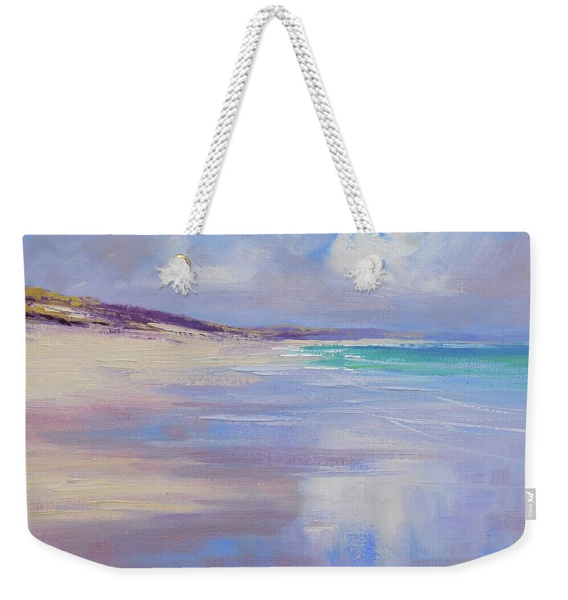 Nature Weekender Tote Bag featuring the painting Cloud Reflections by Graham Gercken